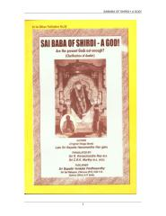 SAI BABA OF SHIRDI - A GOD by Sri Sai Nilaya Publication No. 58.doc