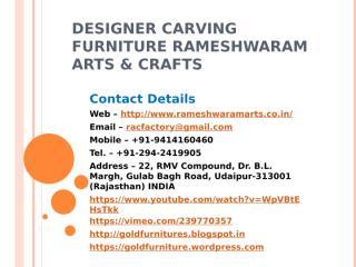 Designer Carving Furniture Rameshwaram Arts & Crafts.pptx