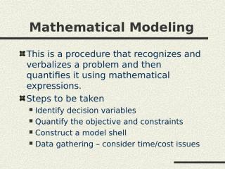 Math Modeling.ppt
