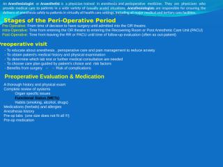 01 Role of anaesthetist in the preoperative care.ppt