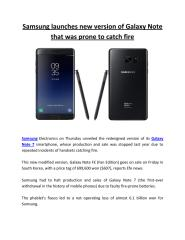 Samsung launches new version of Galaxy Note that was prone to catch fire.pdf