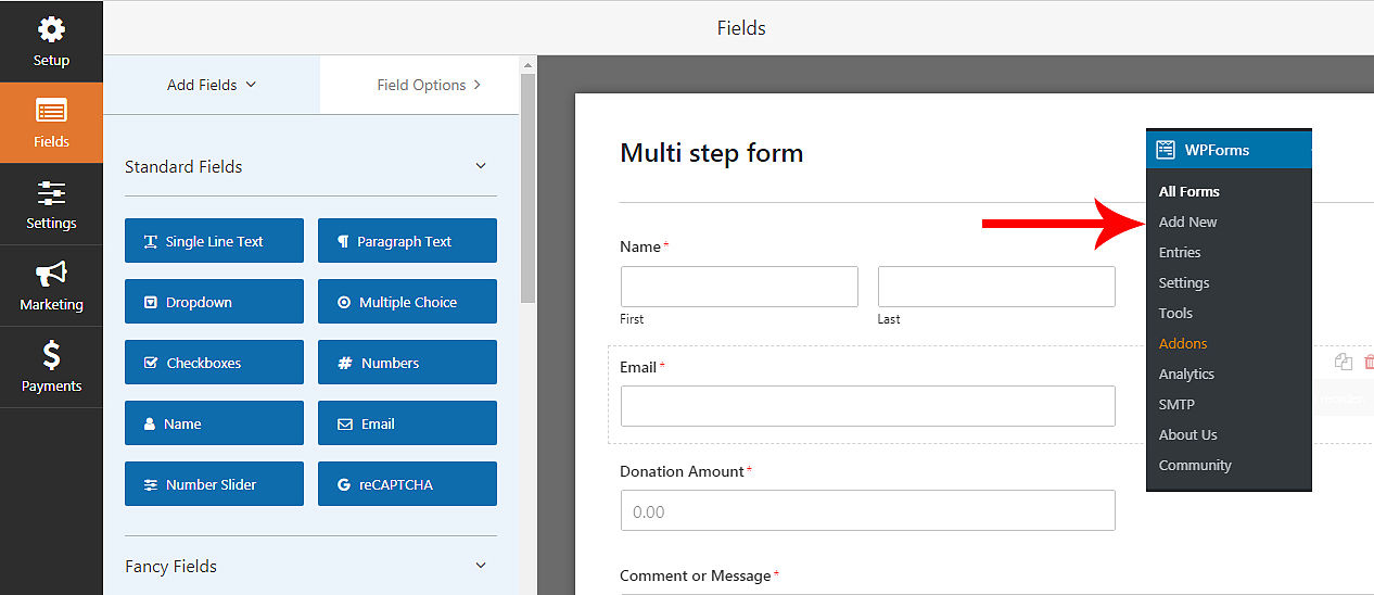 build a multi-step form in wordpress