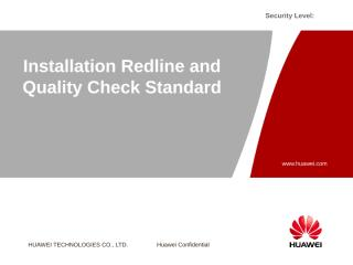 H. Installation Redline and Quality Check Standard.ppt