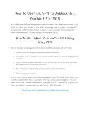 How To Use Hulu Outside USA.pdf