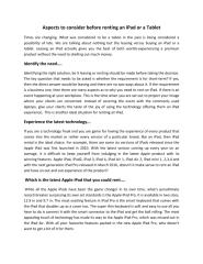 Aspects to consider before renting an iPad or a Tablet - iPadRental Dubai.pdf